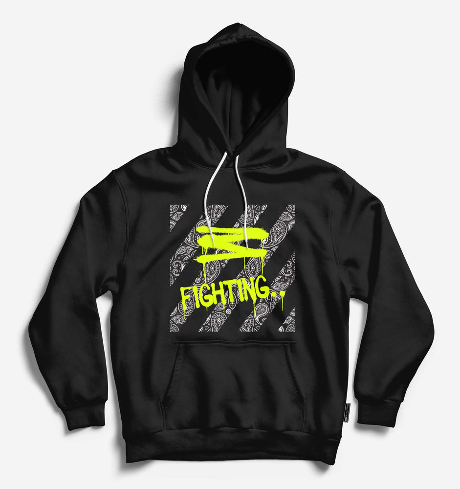 Paisley Fighting Fame Unisex Black Hoodie