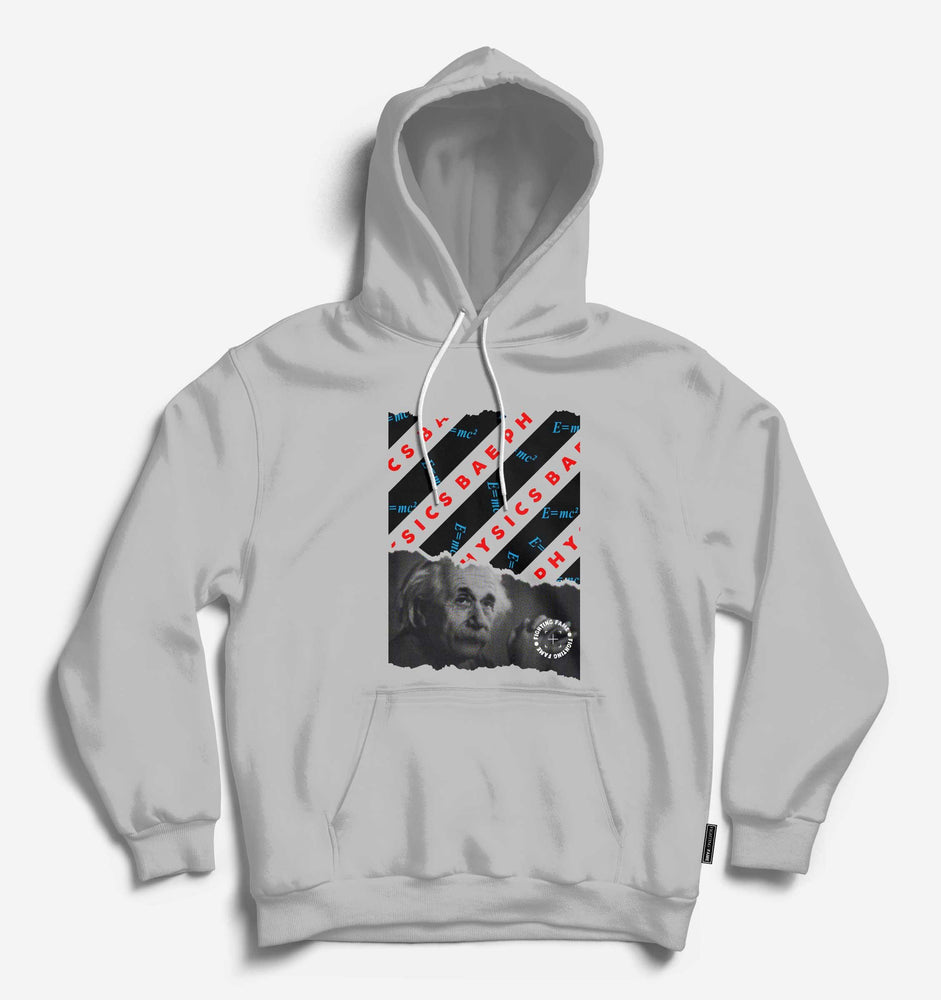 Fighting Fame Physics Bae Einstein Lt.Grey Hoodie