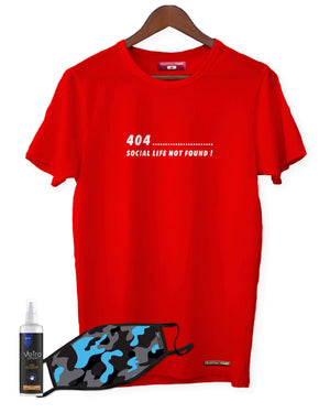 Fighting Fame Quarantine Social Life T-Shirt + Blue Camo Mask + Surface Disinfectant Combo