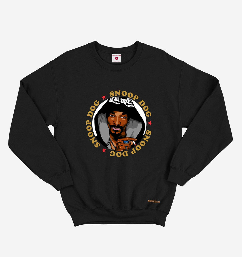 Fighting Fame Snoop Dog Black Hip Hop Sweatshirt