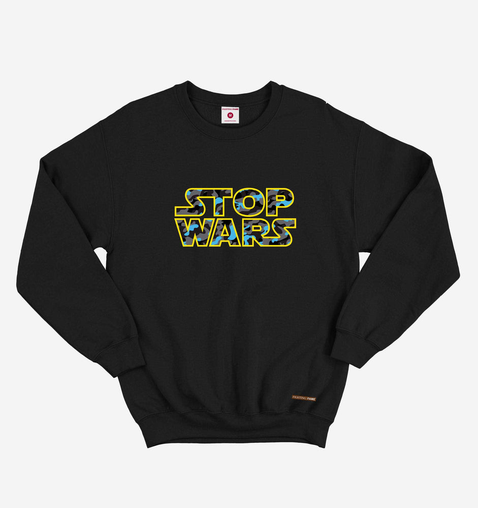 Fighting Fame Stop Wars Black Sweatshirt
