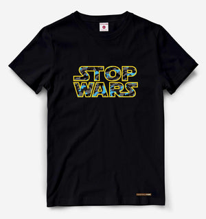 Fighting Fame Stop Wars Black Tee