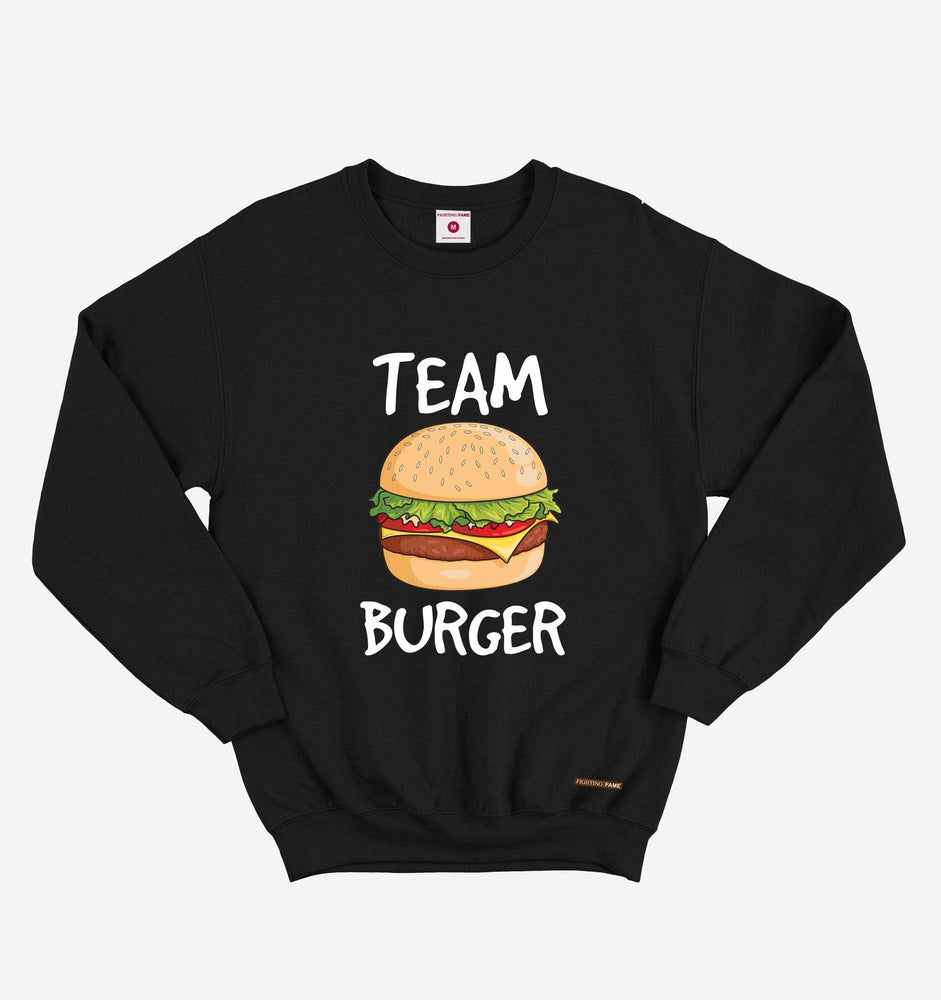 Fighting Fame Team Burger Black Sweatshirt