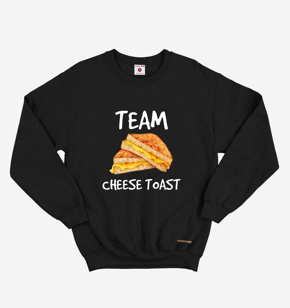 Fighting Fame Team Cheese Toast Black Sweatshirt