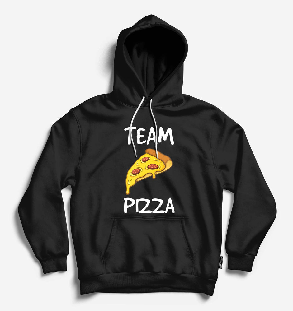 Fighting Fame Team Pizza Black Hoodie