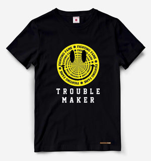 Fighting Fame Trouble Maker Black Tee