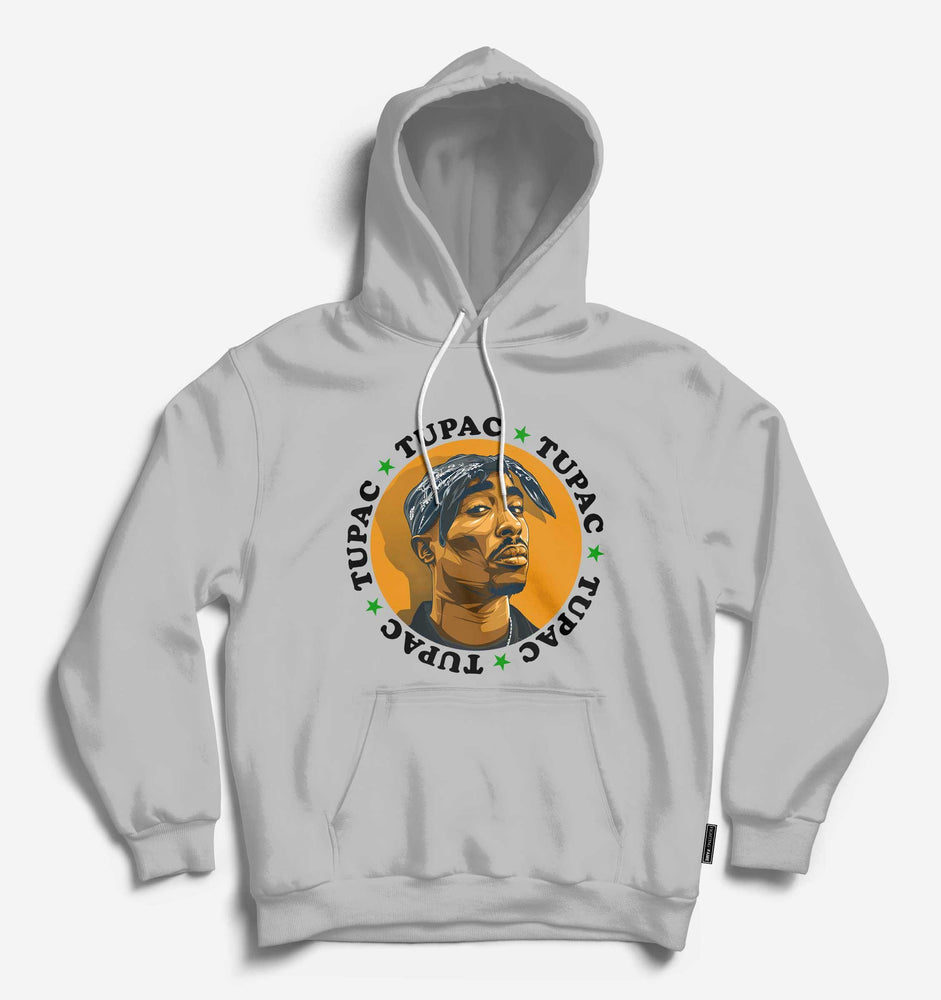 Fighting Fame Tupac Lt.Grey Hip Hop Hoodie