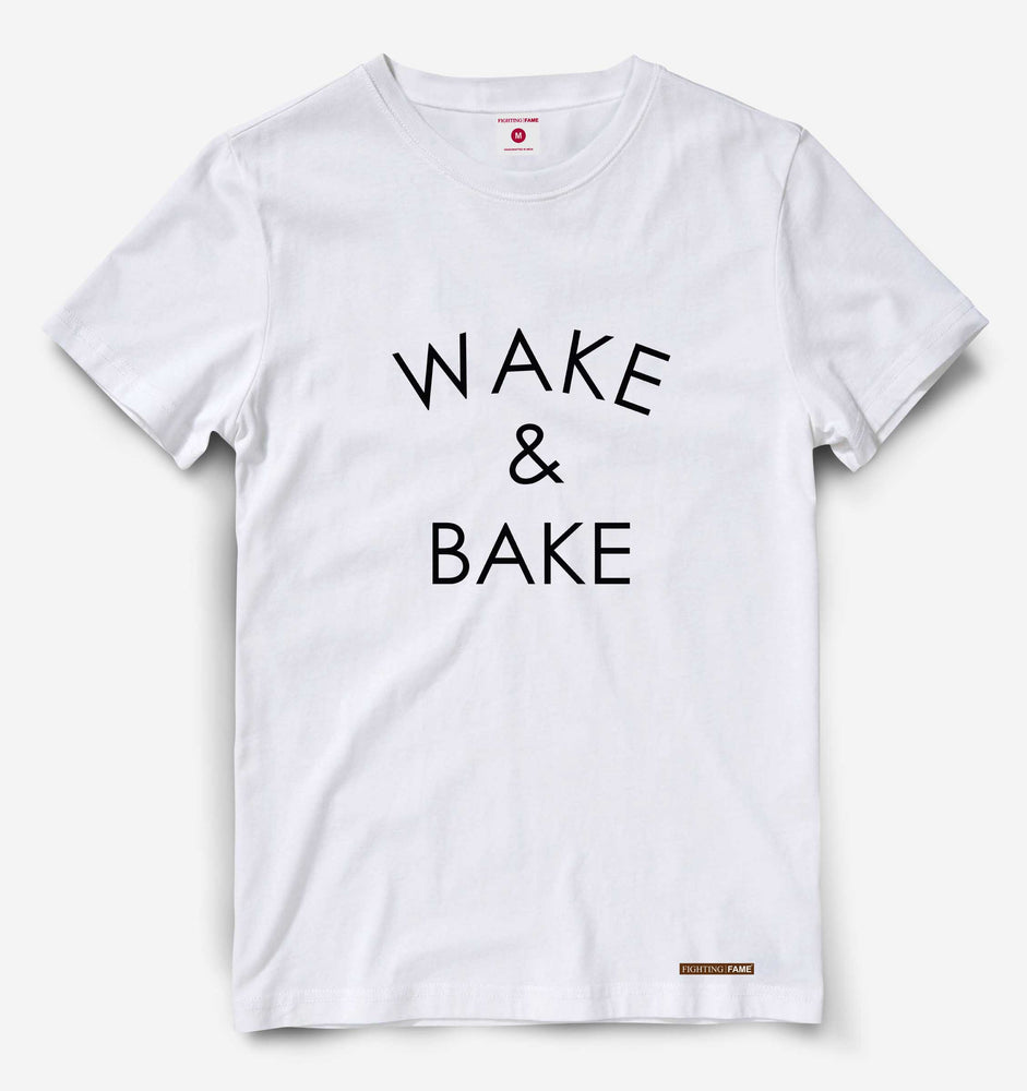 Wake and Bake White Tee