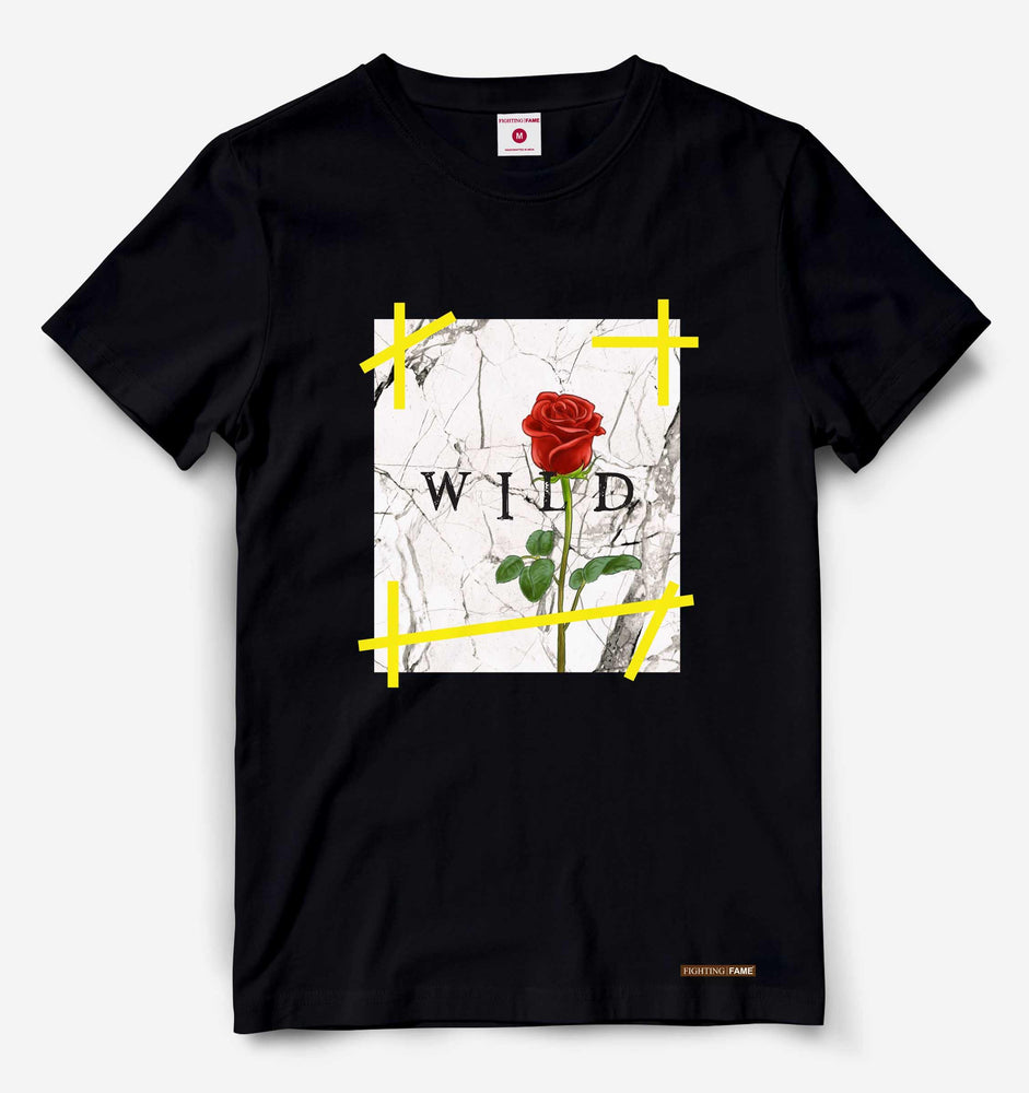 Fighting Fame Wild Rose Black Tee
