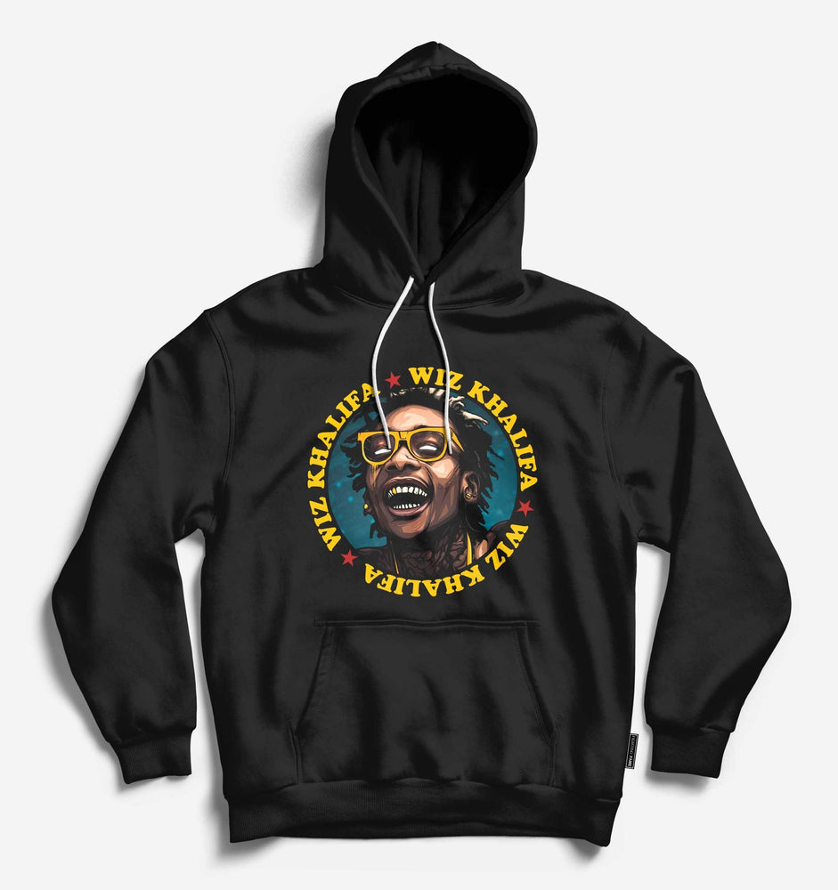 Fighting Fame Wiz Khalifa Black Hip Hop Hoodie