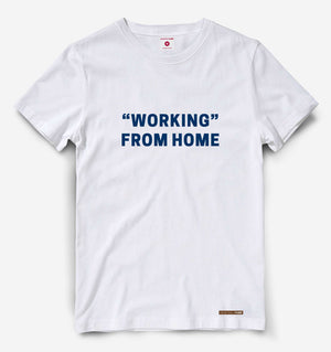 Working From Home White Tee