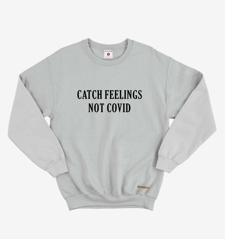 Catch Feelings Not Covid Lt.Grey Long Sleeve Tee