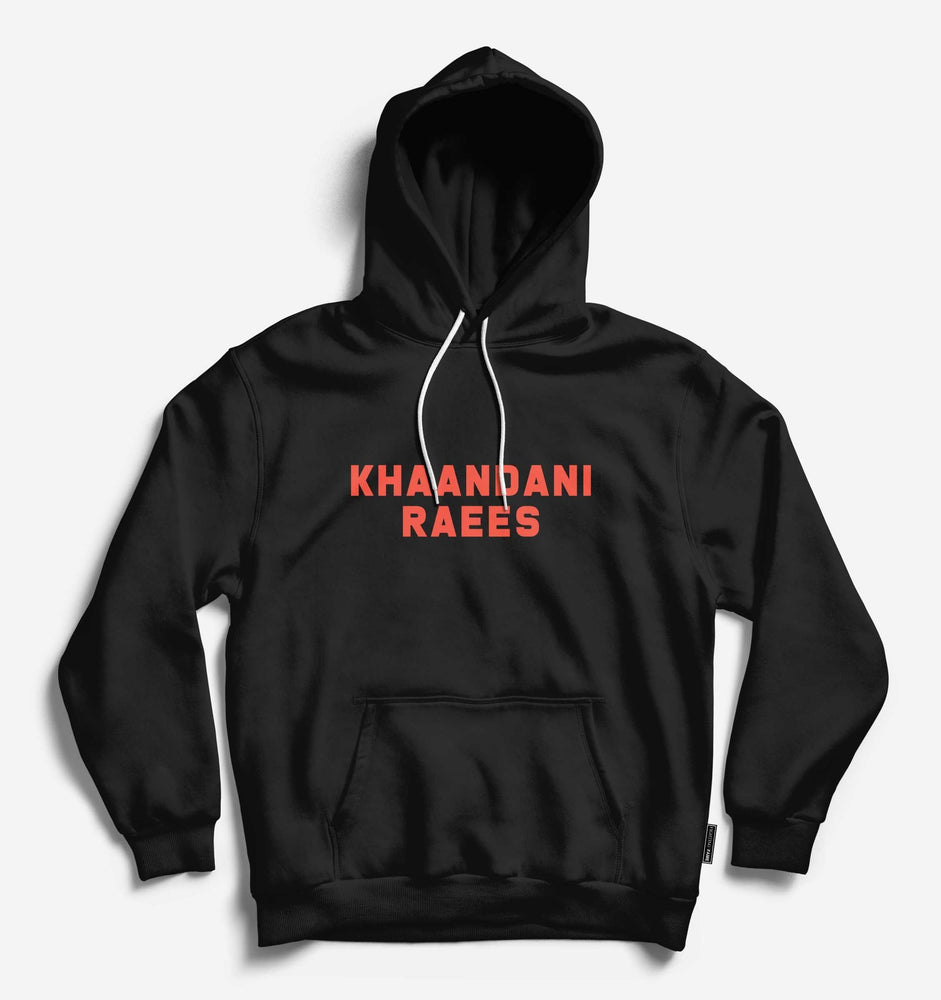 Khaandani Raees Unisex Black Long Sleeve Tee With Hood