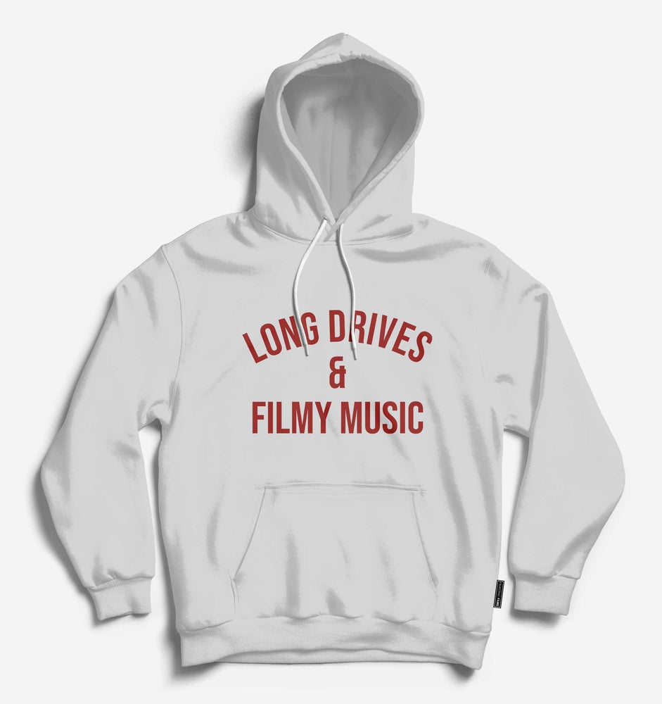 Long Drives & Filmy Music Unisex Lt.Grey Hoodie