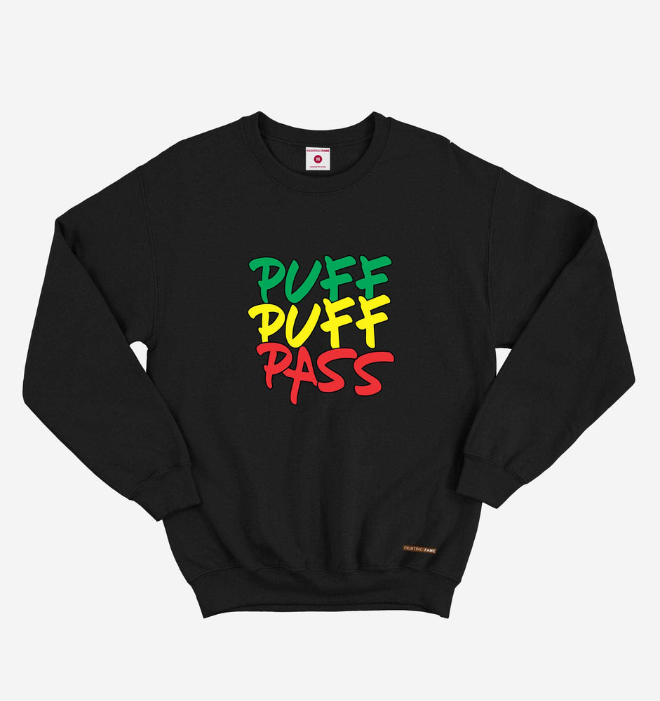 Puff Puff Pass Black Long Sleeve Tee