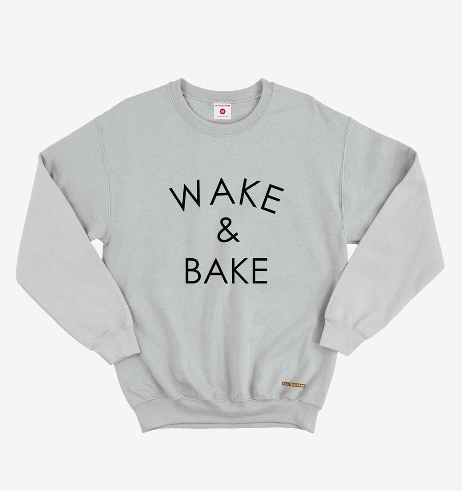 Wake and Bake Lt.Grey Sweatshirt