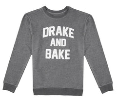 DRAKE AND BAKE Grey Melange Sweatshirt - Fighting Fame  - 4