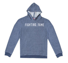 Fighting Fame Blue Melange Print Popover Hoodie - Fighting Fame  - 4