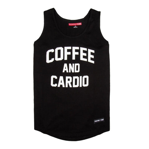 Coffee And Cardio Black Tank