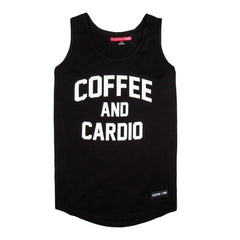 Coffee And Cardio Black Tank (Pre-Order) - Fighting Fame  - 1