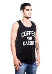 Coffee And Cardio Black Tank (Pre-Order) - Fighting Fame  - 4