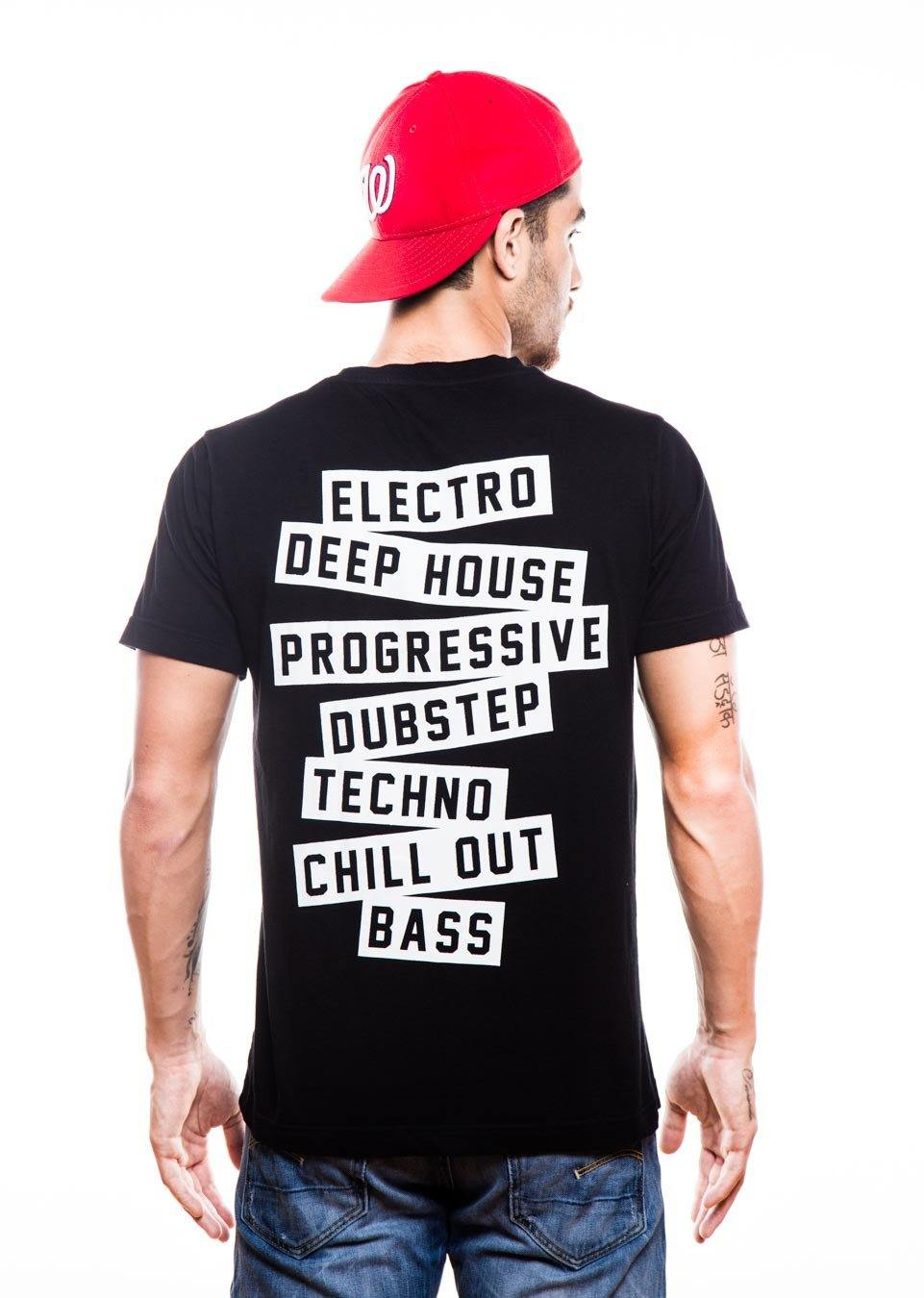 History Of EDM Black T-Shirt - Fighting Fame  - 2