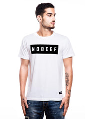 Inverted No Beef White T-Shirt - Fighting Fame  - 4