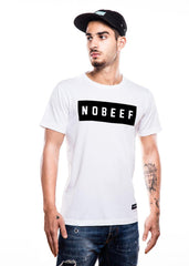 Inverted No Beef White T-Shirt - Fighting Fame  - 2