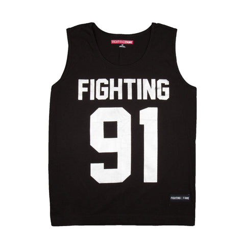 Fighting Fame 91 Silver Foil Printed Vest