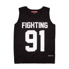 Fighting Fame 91 Silver Foil Printed Vest - Fighting Fame  - 1