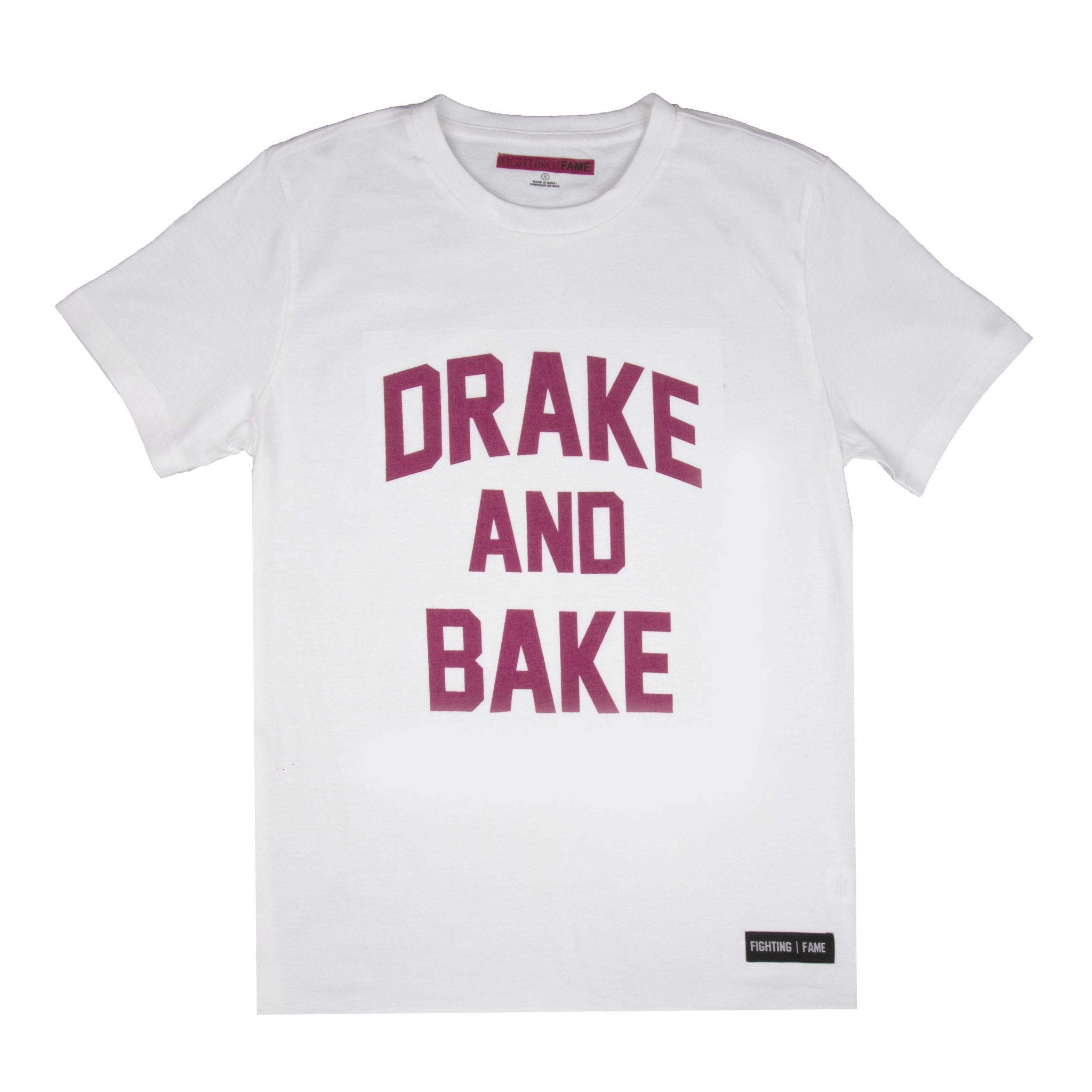 Drake And Bake White T-Shirt - Fighting Fame  - 1
