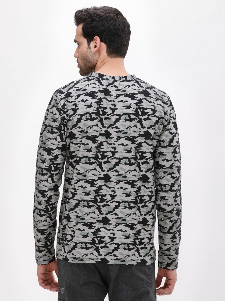 Fortune Favours The Bold Camo Long Sleeve T-Shirt