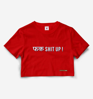 Fuck Shit Up Red Crop Top