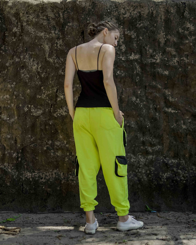 Neon Yellow Street Unisex Gully Pants