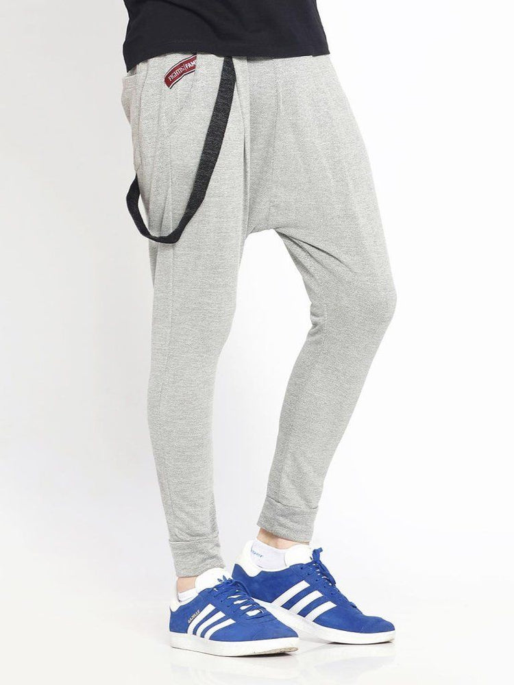 Light Grey Single Suspender Joggers
