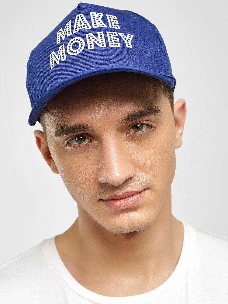 MAKE MONEY Slogan Print Cap