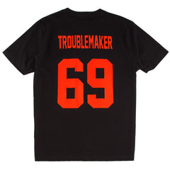 Troublemaker 69 Black T-Shirt - Fighting Fame  - 1