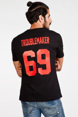Troublemaker 69 Black T-Shirt - Fighting Fame  - 3