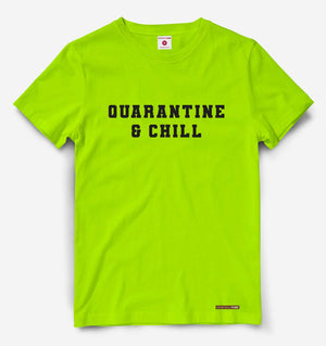 Quarantine And Chill Neon Green Tee