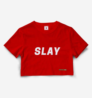 Slay Red Crop Top