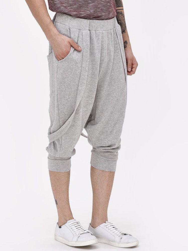 Thigh Dip Joggers With Suspenders