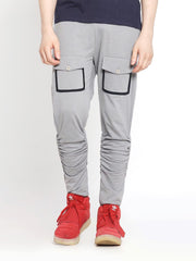 Silver Filigree Double Pocket Cargo Joggers