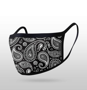 WHITE PAISLEY MASK