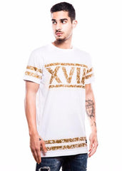 (S)haan X Fighting Fame XVIII White Longline T-Shirt - Fighting Fame  - 2