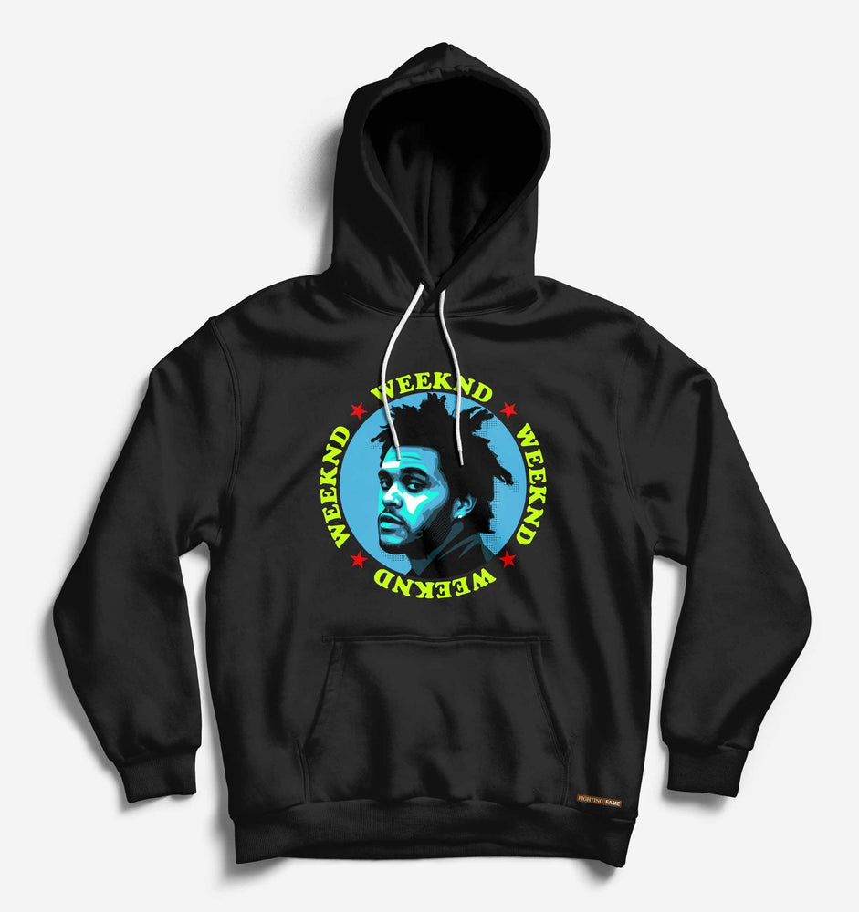 Weeknd Black Hip Hop Long Sleeve Tee With Hood