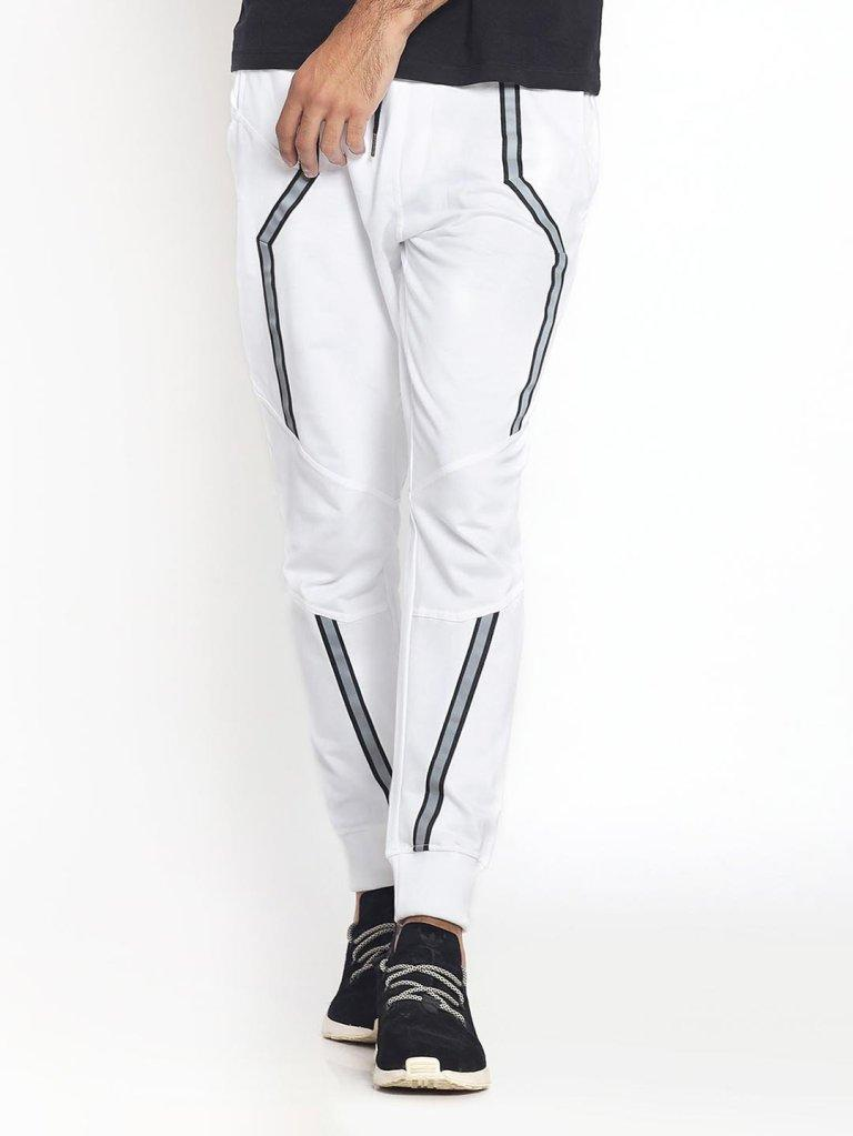 White Reflector Joggers