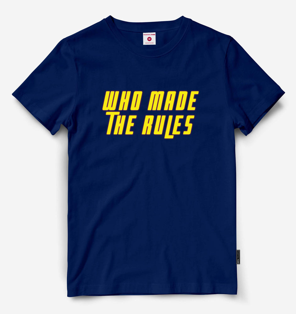 Who Made The Rules Navy Blue Tee