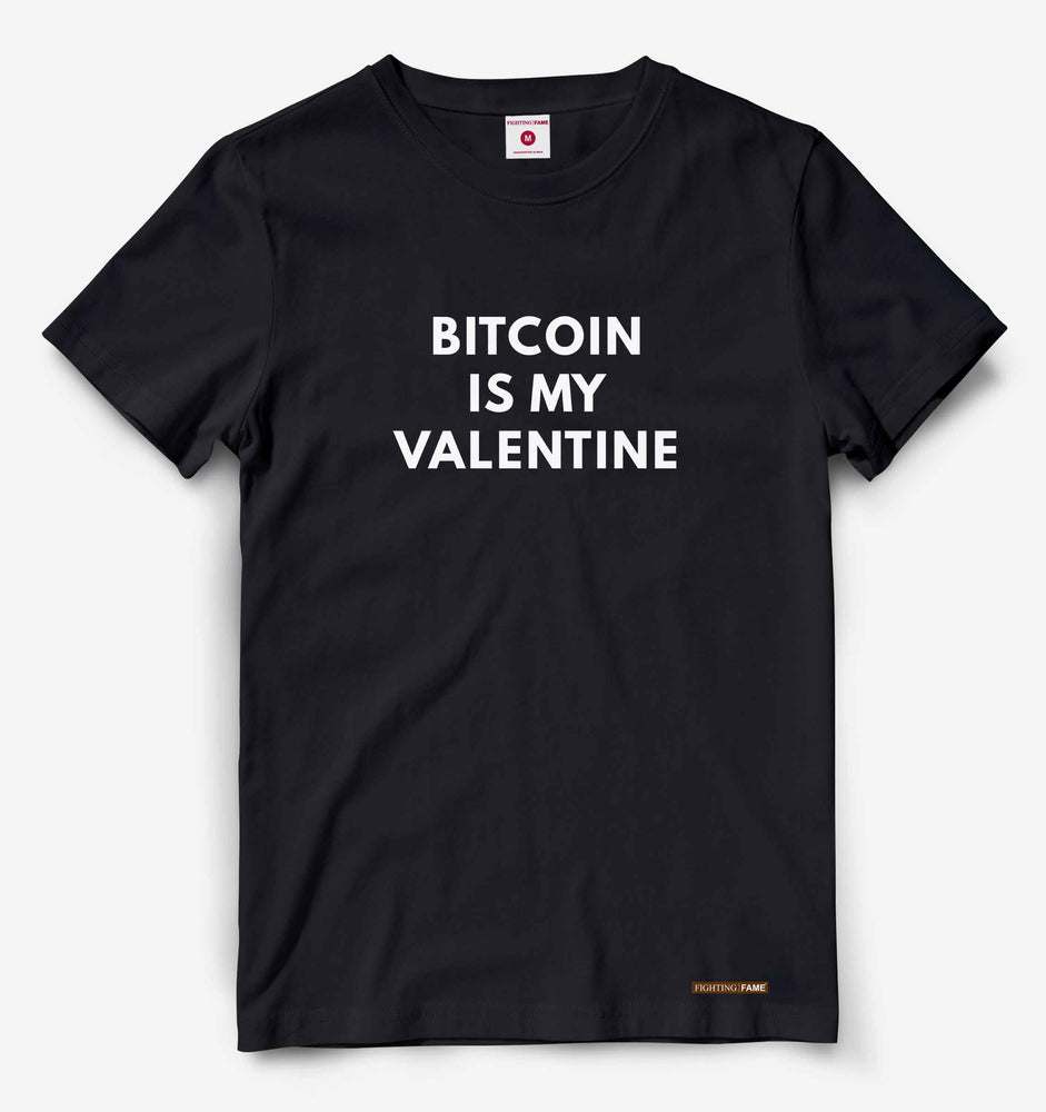 Bitcoin Is My Valentine Black Tee