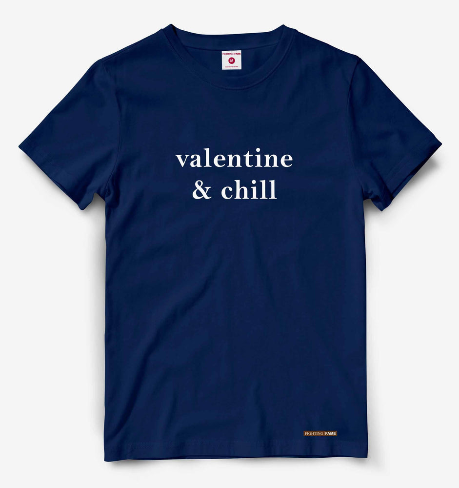 Valentine and Chill Navy Tee