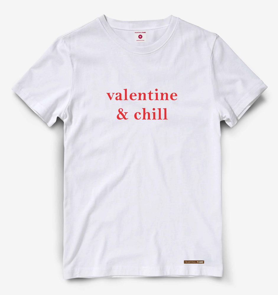 Valentine and Chill White Tee